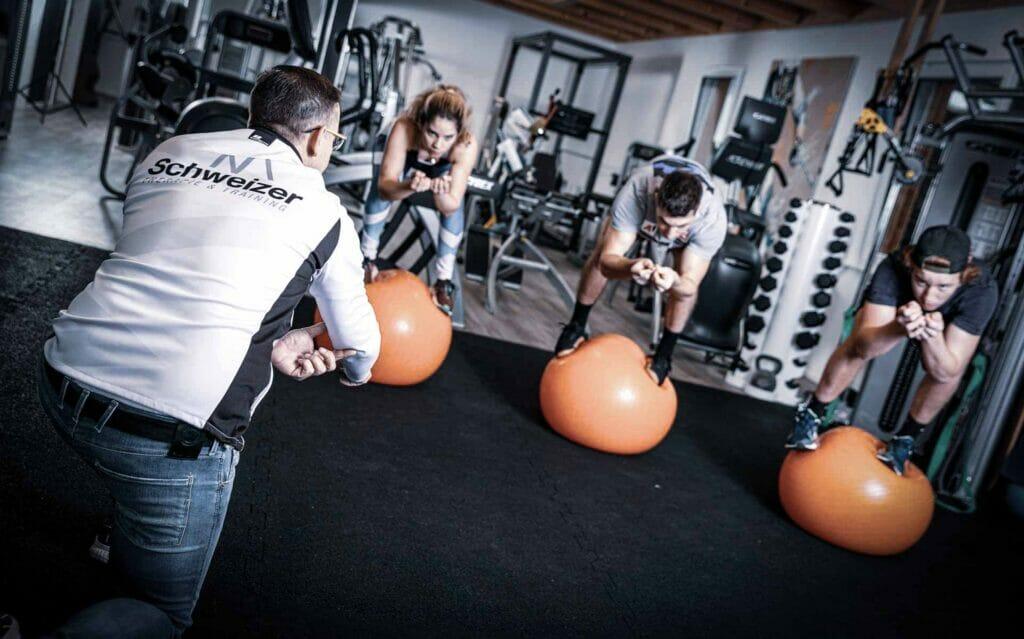 Training bei Team Schweizer
